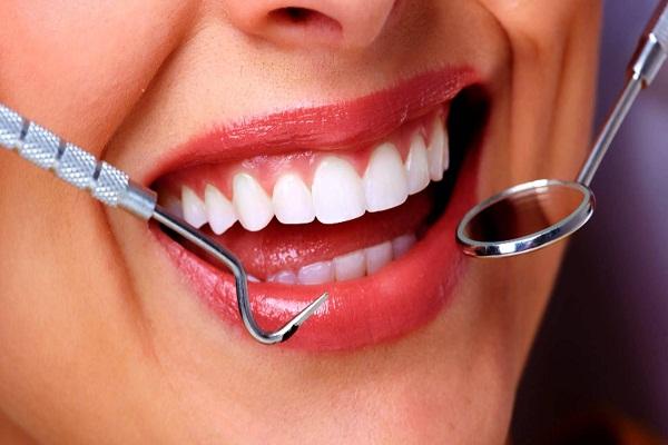 White teeth and dental equipment